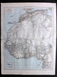 Times 1895 Antique Map. Africa, North-West